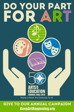 Arts and Education Council of St. Louis 2013 Annual Campaign Poster |